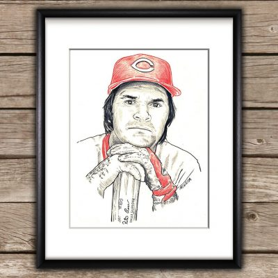 Pete Rose Sketch Print